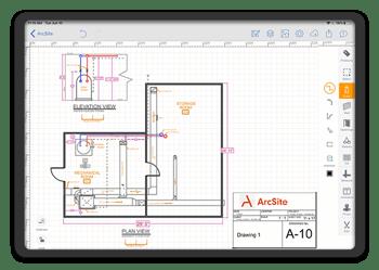 ArcSite digital drawing and estimation app