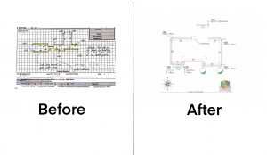 The ArcSite difference: taking a messy hand-drawn site plan and turning it into a beautiful customer proposal