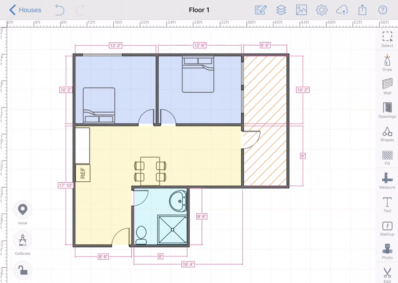 floor plan in arcsite